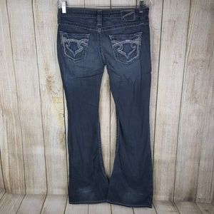 Big Star Womens Sweet Ultra Low Rise Jeans Size 28
